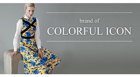 �mbrand of COLORFUL ICON�n����̑����ɃJ���t���A�C�R�����v���X���ďt���Ăэ������B