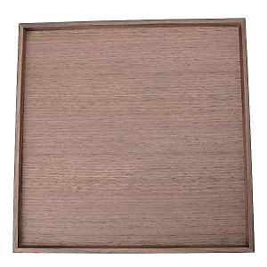 <集英社> 松屋漆器店 マツヤシッキテン ウォルナットの角盆(大) ウォルナット 大画像