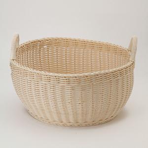 <集英社> ザリーン ザリーン ラウンドバスケット アイボリー ベージュ ブラウン画像