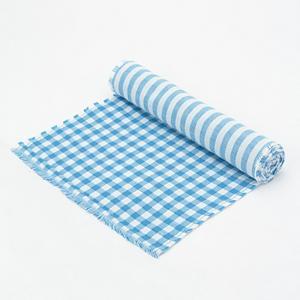 <集英社> Simply シンプリー カットタオル ギンガムチェック ブルー ピンク画像
