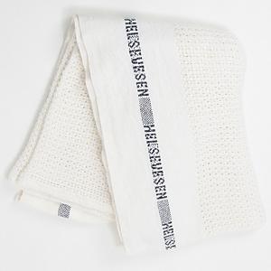<集英社> Barker Textile バーカーテキスタイル コットンブランケット ホワイト ナチュラル シルバー F画像