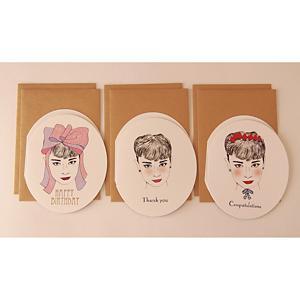 <集英社> ekore エコレ 楕円型カード3種 6枚セット ホワイト画像