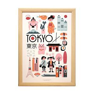 <集英社> krone クローネ 【OMM−design】インゲラ・アリアニウス 都市柄ポスター(フレーム付) TOKYO F キッズ画像
