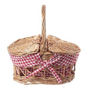 <集英社> Mum's Little Things マムズ リトル シングス ピクニックバスケット レッド 23×17×H24 キッズ画像