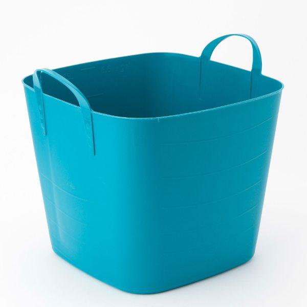 バスケット ブルー イエロー ブラウン M