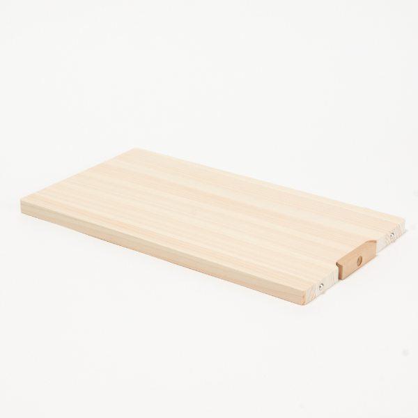 四万十川・ひのきのまな板 M スタンド式 ひのき 34×18cm