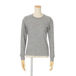 <集英社> n100 エヌワンハンドレッド プレーンジャージー長袖Tシャツ メランジグレー 34 レディース画像