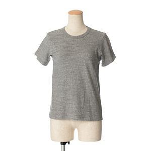<集英社> n100 エヌワンハンドレッド プレーンジャージー 半袖Tシャツ メランジグレー プラム 34 レディース画像