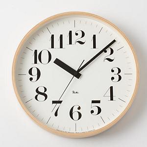 <集英社> Lemnos レムノス リキ クロック 電波時計 直径30.5cm画像