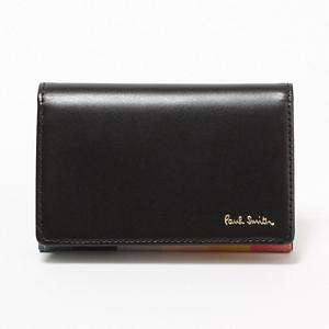 <集英社> PAUL SMITH ポールスミス MULTI COLOR STRIPE IN CARD CASE ブラック F メンズ画像