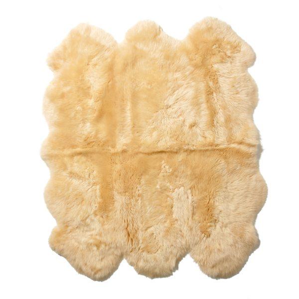 洗えるスプリングラム 長毛ムートンラグ ベージュ アイボリー ブラウン グレー 幅140×奥行き170cm