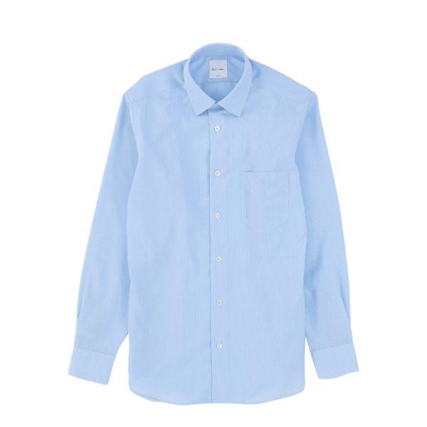 【送料無料】PAUL SMITH ポールスミス DOBBY STRIPE DRESS SHIRT サックス ホワイト S M L XL メンズ