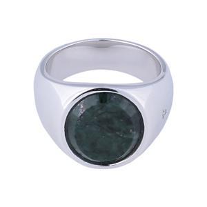 <集英社> TOM WOOD トムウッド OVAL GREEN MARBLE シルバー/グリーン 58(18号) 60(19号) 62(20号) メンズ画像