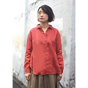 <集英社> d'un a dix アナディス リネンシャツ オレンジ 38 レディース画像