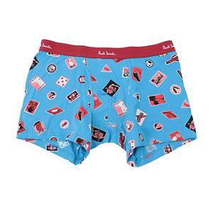 <集英社> PAUL SMITH ポールスミス TRAVEL PRINT BOXER ブルー ピンク L メンズ画像