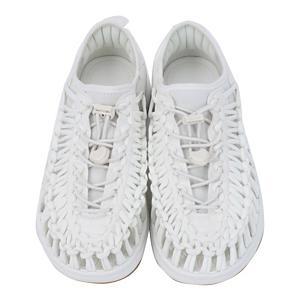 <集英社> KEEN キーン UNEEK 02 ホワイト/ハーベストゴールド 26.5cm 27.0cm メンズ画像