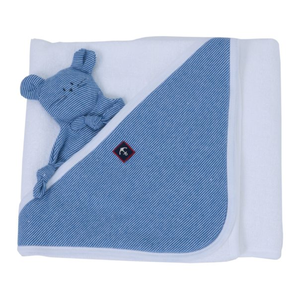 【BABY】ブルーミラレアフガン&ドゥドゥセット ブルー/ホワイト ONE ベビー