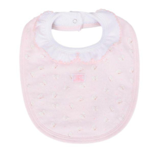 【BABY】フリル衿つきスタイ ライトピンク/ホワイト/プリント ONE ベビー