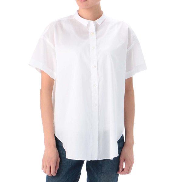 LIBERTYコットンシャツ ホワイト カーキ ネイビー 36 38 レディース