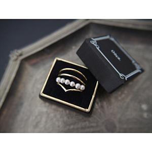 <集英社> Ouca ウーサ 【Ring Collection14】貝パール3本セットリング ゴールド 9号 11号 13号 レディース画像