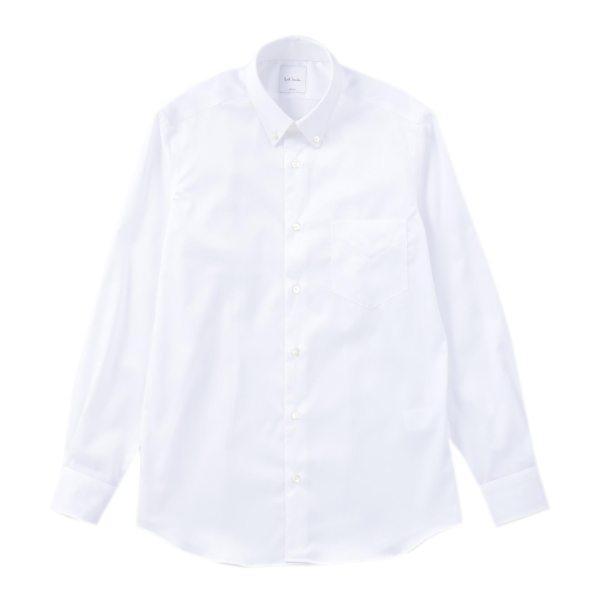 【送料無料】PAUL SMITH ポールスミス DOBBY STRIPE B/D DRESS SHIRTS ホワイト ブルー XL S M L メンズ