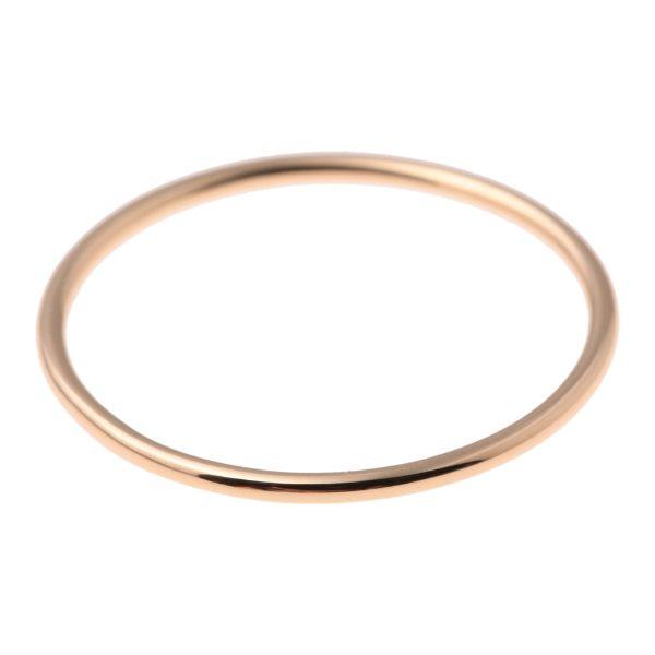 【送料無料】Hirotaka ヒロタカ 【All About Basics Collection】Simple Finger Ring 18Kイエローゴールド 10 7 8 9 11 レディース