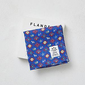 <集英社> FLANDERS LINEN PRODUCTS フランダースリネンプロダクツ フランダースリネンプリントBOXハンカチ(ローズの香りサシェ付き) 木馬ブルー 木馬ピンク画像