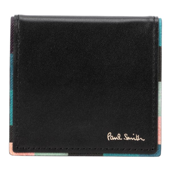 【送料無料】PAUL SMITH ポールスミス ARTIST STRIPE POP COIN CASE ブラック ネイビー ワインレッド F メンズ