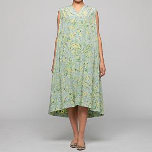 <集英社> 08sircus 08サーカス Cu/C flower print dress グリーンフラワー 36 38 レディース画像