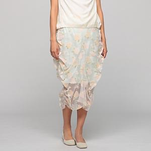 <集英社> 08sircus 08サーカス flower cut jacquard skirt アイボリー 36 38 レディース画像