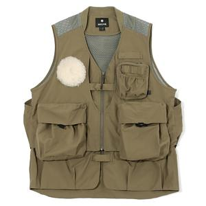 <集英社> SNOW PEAK スノーピーク Fishing Vest オリーブ ブラック M メンズ