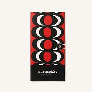 <集英社> marimekko マリメッコ Kaivo スティッキーノート レッド×ブラック×ホワイト F レディース
