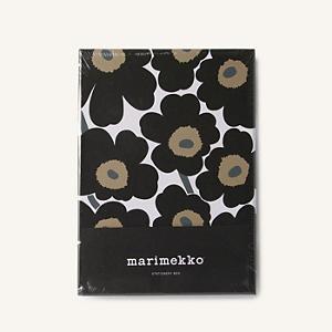 <集英社> marimekko マリメッコ Pieni Unikko ステーショナリーボックス ホワイト×ブラック F レディース