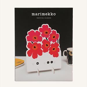 <集英社> marimekko マリメッコ Unikko 万年カレンダー ホワイト×レッド F レディース