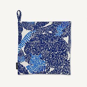 <集英社> marimekko マリメッコ Mynsteri ポットホルダー ホワイト×ブルー F レディース画像