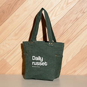 <集英社> Daily russet デイリーラシット スタッズ付トートバッグ(M) グリーン ワインレッド F レディース画像