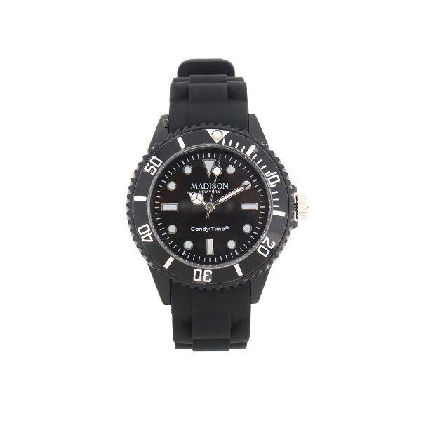 <集英社> Daily russet デイリーラシット OriginalMini/腕時計 ブラック オレンジ ネイビー F レディース