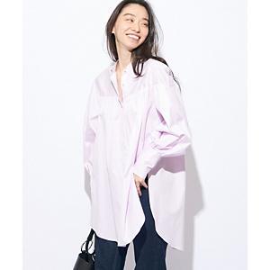 <集英社> GALLARDAGALANTE ガリャルダガランテ ギャザーシャツチュニック ピンク ホワイト F レディース画像
