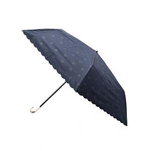 <集英社> grove グローブ 遮光ハードりたたみ傘(晴雨兼用) ネイビー レディース画像