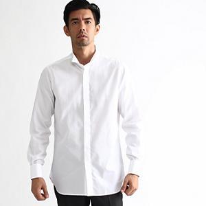 <集英社> TAKEO KIKUCHI タケオキクチ 120/2ブロードウィングカラーシャツ ホワイト 01(S) 02(M) 03(L) 04(LL) メンズ画像