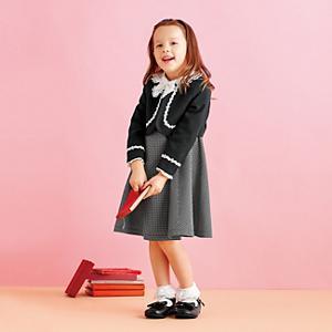 <集英社> HusHusH ハッシュアッシュ 3点セットボレロアンサンブル ブラック 11(110cm) キッズ画像
