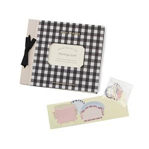 <集英社> grove グローブ デコラップアルバム(フラワー&チェック) ブラック ネイビー ホワイト ピンク レディース
