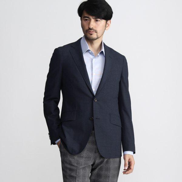 TAKEO KIKUCHI タケオキクチ 千鳥ジャケット Fabric by CORDURA COOLMAX(R) ネイビー 02(M) 03(L) メンズ