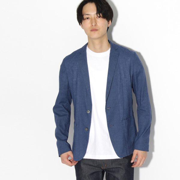 tk.TAKEO KIKUCHI ティーケー タケオキクチ コンフォートフランダースリネン ジャケット ネイビー 02(M) 04(LL) メンズ
