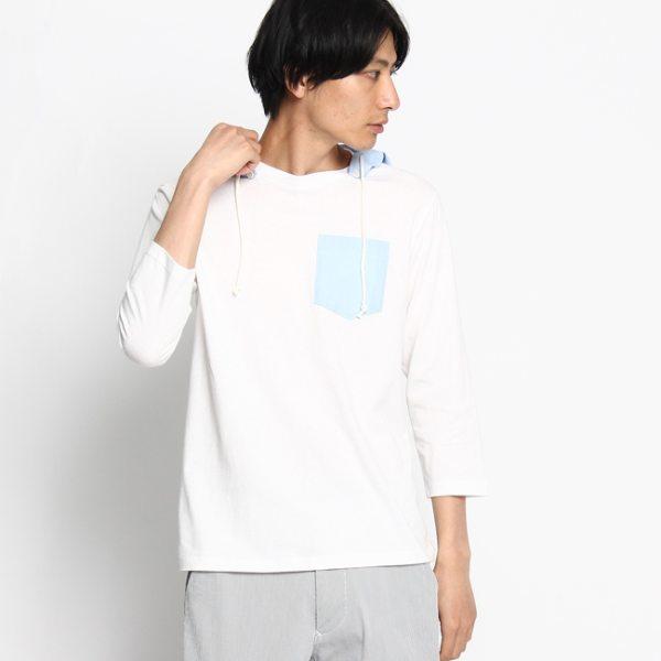 """""""Dessin デッサン 2WAY天竺フーデッドカットソー ホワイト 02(M) メンズ"""""""