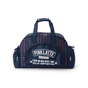 <集英社> PINK-latte ピンクラテ 2WAYストライプボストンバッグ ネイビー キッズ画像
