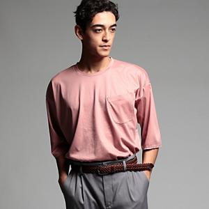 <集英社> tk.TAKEO KIKUCHI ティーケー タケオキクチ コットンキュプラスムース ビッグTシャツ ピンク グリーン ダークブラウン 02(M) 03(L) メンズ画像