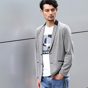 <集英社> TAKEO KIKUCHI タケオキクチ コットンリングフロートジャケット チャコールグレー グレー ネイビー 02(M) 03(L) 04(LL) 01(S) メンズ画像