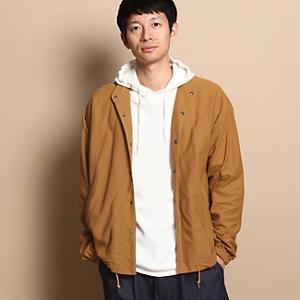 <集英社> THE SHOP TK ザ ショップ ティーケー バンドカラーコーチジャケット キャメル 03(L) 02(M) メンズ画像