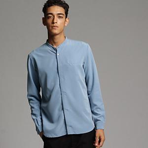 <集英社> tk.TAKEO KIKUCHI ティーケー タケオキクチ 比翼バンドカラーシャツ ライトブルー 03(L) 04(LL) メンズ画像